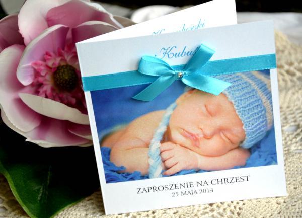 Zaproszenia Na Chrzest Ze Zdjęciem Dziecka 35 Zł Galera Realizacji