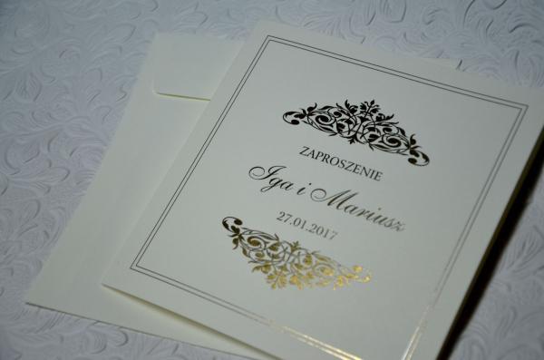 Zaproszenia ślubne Złocone Iga 3 Zł Galera Realizacji